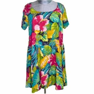 Jams World Vintage Floral Dress Size Large